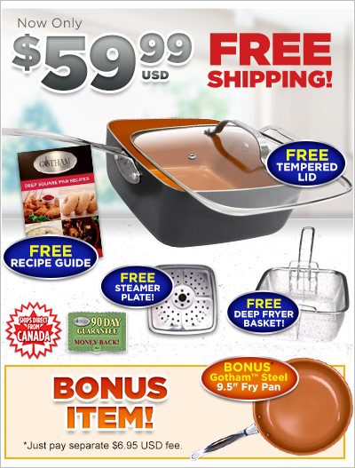 Order Gotham™ Steel Square Pan Now!